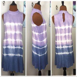 NWT Altar'd State dress, tie dye, high neck, ombré